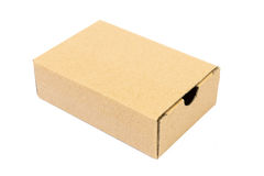 A brown carton for packaging Royalty Free Stock Images