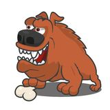 Brown cartoon dog Stock Photos