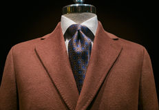 Brown Cashmere Coat (horizontal) Royalty Free Stock Photography