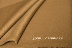 Brown cashmere fabric Stock Image