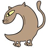 Brown cat. Creative design of brown cat Royalty Free Stock Photo