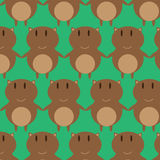 Brown Cat Seamless Pattern Fotografia Stock Libera da Diritti