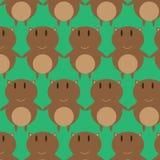 Brown Cat Seamless Pattern Fotografía de archivo libre de regalías
