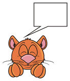 Brown cat sleeps Stock Image