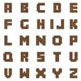 Brown cegły listy royalty ilustracja