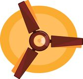 Brown Ceiling fan Stock Photos