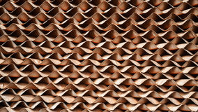 Brown cellulose paper pad or evaporative cooling pad. Background are material of evaporator system stock image