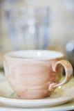 Brown ceramic bowl Stock Photos