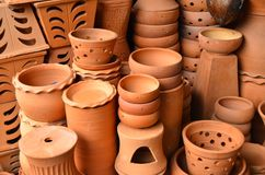 Brown Ceramic Pottery Stock Image