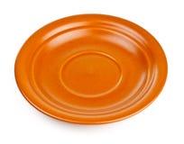 Brown ceramic saucer Stock Images