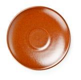 Brown ceramic saucer Royalty Free Stock Image