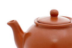 Brown ceramic teapot Stock Photo