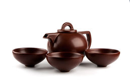 Brown ceramic teapot Royalty Free Stock Photo