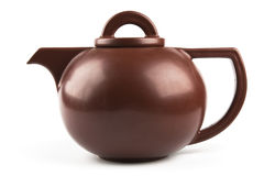 Brown ceramic teapot Royalty Free Stock Photos