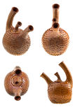 Brown ceramic teapot Royalty Free Stock Image