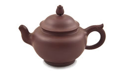 Brown ceramic teapot with cover Royalty Free Stock Photography