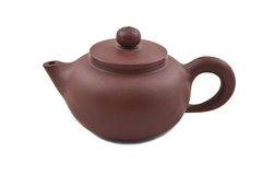 Brown ceramic teapot with cover Stock Image