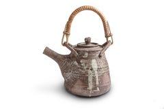 Brown ceramic  teapot Royalty Free Stock Photos