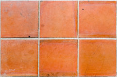 Brown ceramic tile Royalty Free Stock Photography