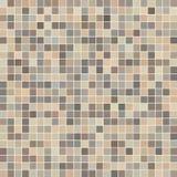 Brown ceramic tile mosaic Stock Images
