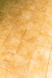 Brown ceramic tiles on the floor Royalty Free Stock Photos
