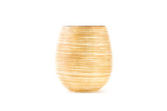 Brown ceramic vase. Royalty Free Stock Images