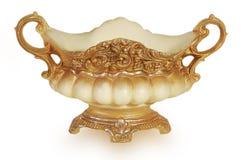 Brown ceramic vase Royalty Free Stock Images