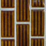 Brown ceramic wall Royalty Free Stock Photo