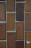 Brown ceramic wall Stock Image