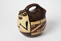 Brown Ceramics Vase Colombia Stock Image