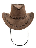 Brown chamois stetson cowboy hat. One brown chamois stetson cowboy hat,  full face, on white background; isolated Stock Image