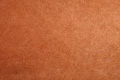 Brown chamois texture, fluffy background. stock image