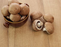 Brown champignons Royalty Free Stock Photo