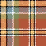 Brown check fabric texture square pixel seamless pattern Stock Photo