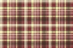 Brown check plaid seamless pixel fabric texture Stock Photos
