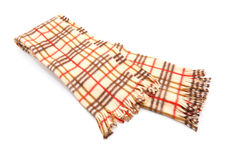 Brown Checked Scarf stock photo