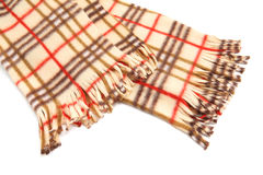 Brown Checked Scarf Royalty Free Stock Photo