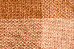 Brown Checkered Fabric Pattern Stock Images