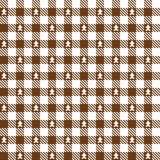 Brown checkered pattern with gingerbread man - endlessly Royalty Free Stock Photos