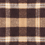 Brown checkered plaid fabric detail for background Stock Photos