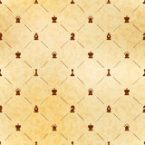 Brown chess icons on old paper with texture, royal seamless pattern. Brown chess icons on old paper with texture, royal luxury seamless pattern vector illustration