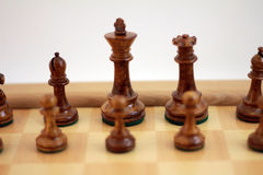 Brown Chess Pieces Royalty Free Stock Photos