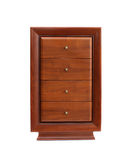 Brown chest of drawers Stock Images