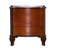 Brown chest of drawers isolated Royalty Free Stock Image
