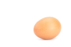 Brown chicken egg isolated on white Stock Image