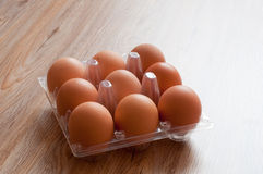 Brown chicken egg packaging Stock Photography