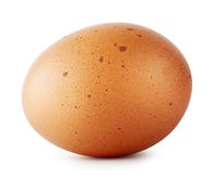 Brown chicken egg speckled Royalty Free Stock Images