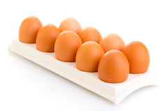Brown chicken eggs Stock Photos