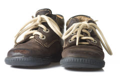 Brown child shoe Royalty Free Stock Photography