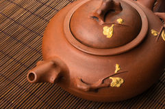 brown Chinese teapot Royalty Free Stock Photo